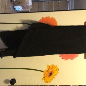 Black blanket scarf